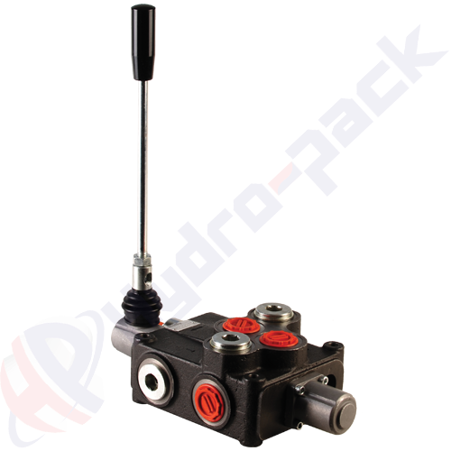"120 liter monoblock control valve, P120 , one spool , G 1"" , open center spool"