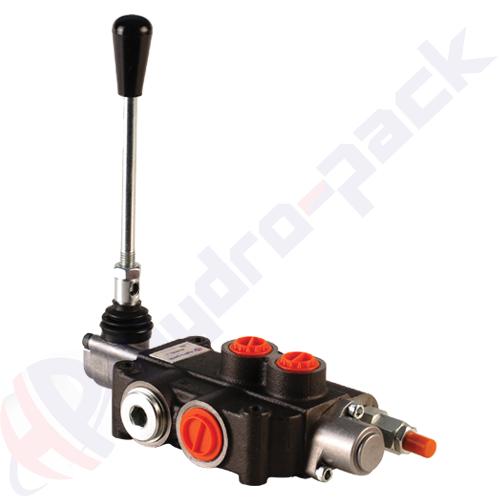 "80 liter monoblock control valve, P80 , one spool , G 1/2"" , open center spool"