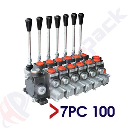 "100 liter sectional control valve, 7PC100 , seven spools , G 3/4"" , open center spool"