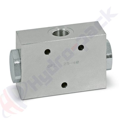 """Steel flow divider, DFL , 32 L/min, G 3/8"""""""
