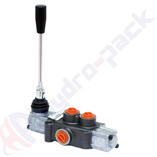 "35 liter monoblock control valve, P35R , one spool , G 3/8"" , open center spool"