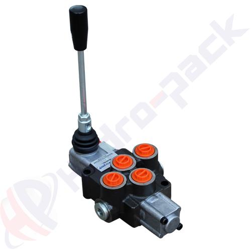 "35 liter monoblock control valve, P38 , one spool , G 3/8"" , open center spool"