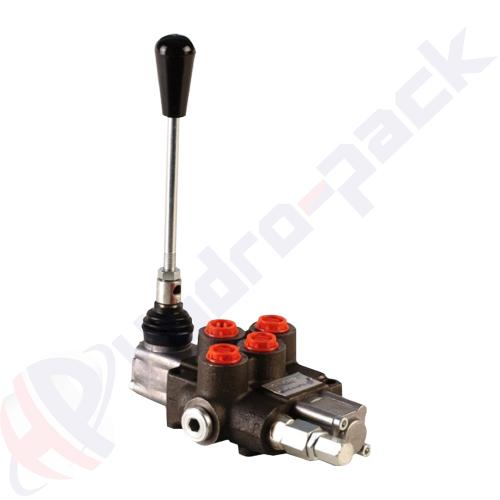 "35 liter monoblock control valve, P38R , one spool , G 3/8"" , open center spool"