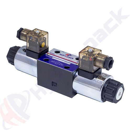 NG6 (CETOP 3) double coil solenoid valve, RH06011 , 60 L/min, 24 V