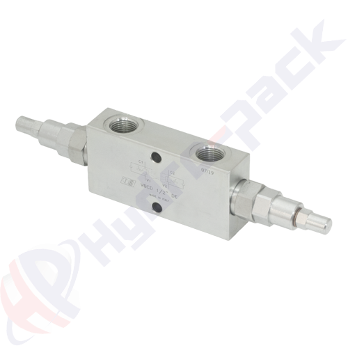 "Double overcenter valve, VBCD DE , 50 L/min, G 1/2"""