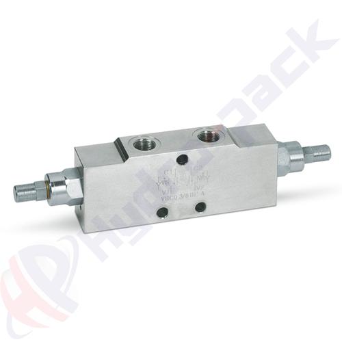 """Double overcenter valve, VBCD DE A , 25 L/min, G 1/4"""""""