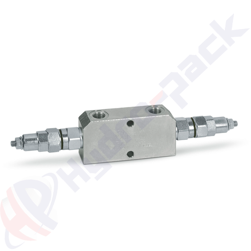 """Double overcenter valve, VBCD DE CC , 50 L/min, G 1/2"""""""