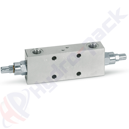 "Double overcenter valve, VBCD DE FL , 40 L/min, G 3/8"""
