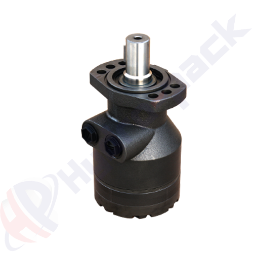 HWF series hydraulic motor, 350 cc/rev, straight keyed shaft 32 mm DIN6885 , 6 holes oval mounting flange
