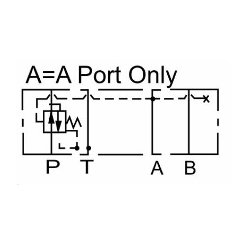 NG10 (CETOP 5) modular pressure reducing valve, MPR 03 A , 70 L/min, A port