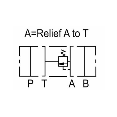 NG10 (CETOP 5) modular pressure relief valve, MR 03 A , 70 L/min, A port