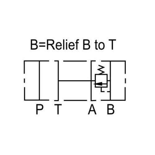 NG6 (CETOP 3) modular pressure relief valve, MR 02 B , 35 L/min, B port