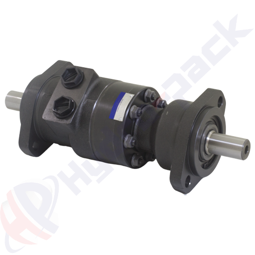 MRB series dual shaft hydraulic motor, 160 cc/rev, straight keyed shaft 25 mm DIN6885 , 2 holes oval mounting flange