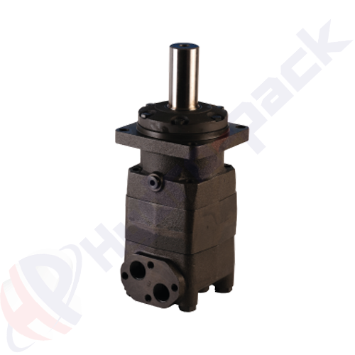 MT series hydraulic motor, 500 cc/rev, straight keyed shaft 40 mm DIN6885 , 4 bolts square mounting flange
