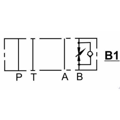NG6 (CETOP 3) modular flow control valve, MTC 02 B , 30 L/min, B port
