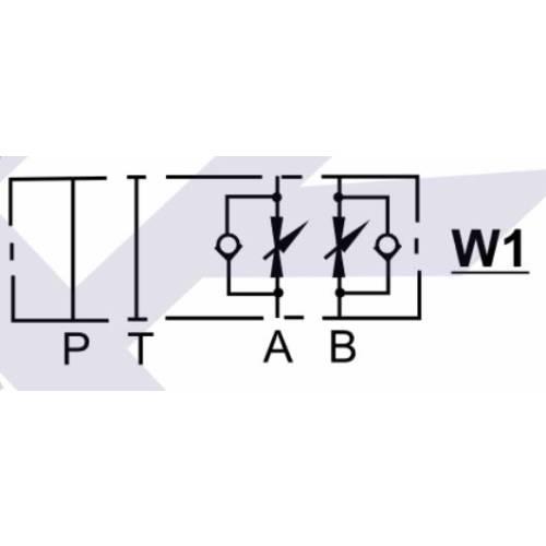 NG6 (CETOP 3) modular flow control valve, MTC 02 W , 30 L/min, A & B ports