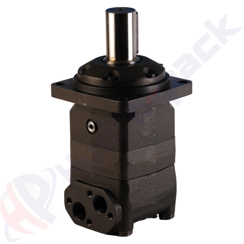 MV series hydraulic motor, 500 cc/rev, straight keyed shaft 50 mm DIN6885 , 4 bolts square mounting flange