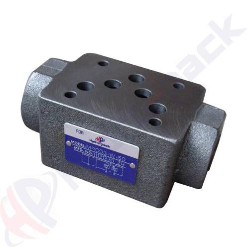 NG10 (CETOP 5) modular pilot operated check valve, MPC 03 W , 100 L/min, A & B ports