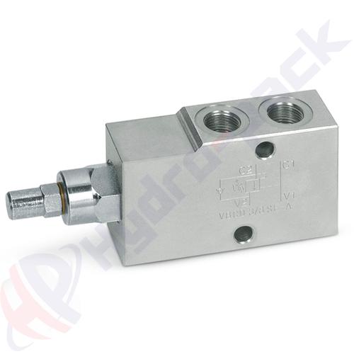 """Single overcenter valve, VBCD SE A , 40 L/min, G 3/8"""""""