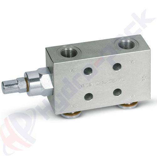 "Single overcenter valve, VBCD SE FL , 60 L/min, G 1/2"""