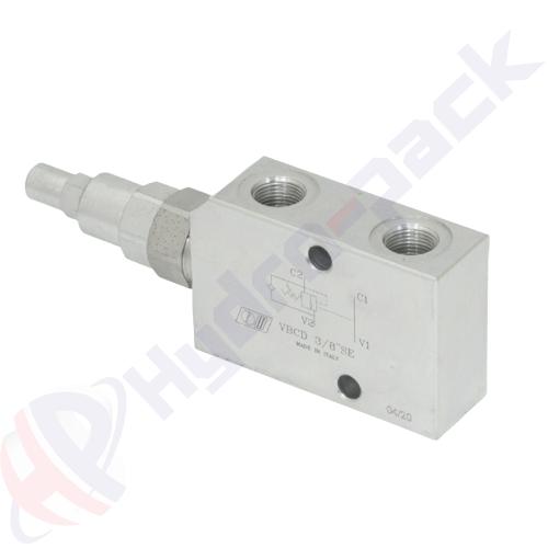 """Single overcenter valve, VBCD SE , 50 L/min, G 1/2"""""""