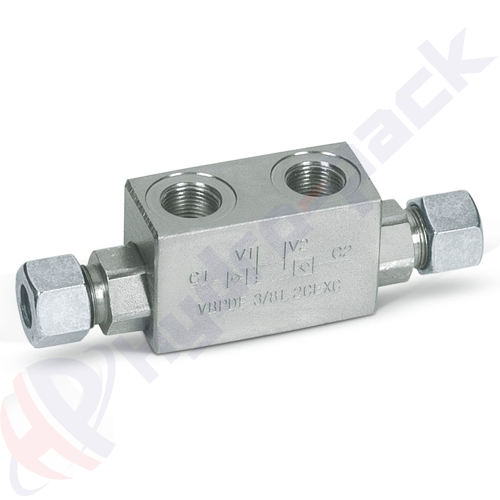 Double pilot operated check valve, VBPDE 2 CEXC , 30 L/min, G 3/8""