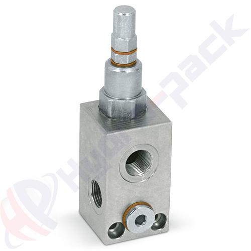 "Inline pressure relief valve, VMP L , 30 L/min, G 1/4"" , 10-180 bar"