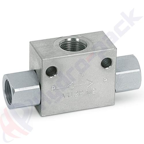 """Shuttle valve, VU2P , 45 L/min, G 3/8"""""""