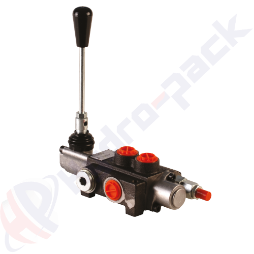 """50 liter solenoid operated control valve, Z50 , one spool , G 3/8"""" , open center spool , 12 V"""