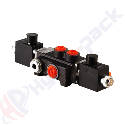 """80 liter solenoid operated control valve, Z80 , one spool , G 1/2"""" , open center spool , 24 V"""